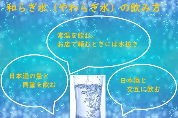 和らぎ水飲み方1