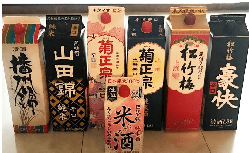 パックの日本酒