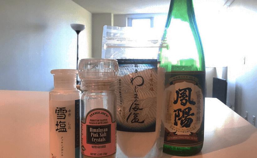 日本酒と塩
