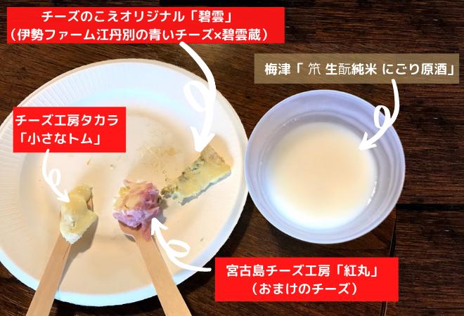 日本酒チーズのイベント
