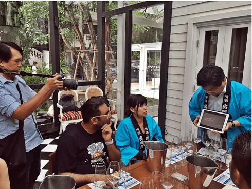 レストラン「Gaggan」での出羽桜イベント