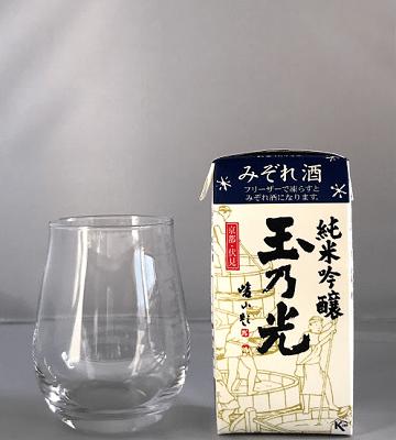 玉乃光酒造「純米吟醸 みぞれ酒(青パック)」