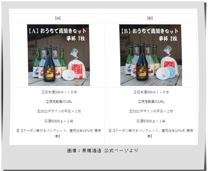 泉橋酒造「おうちでオンライン蔵開き」画像