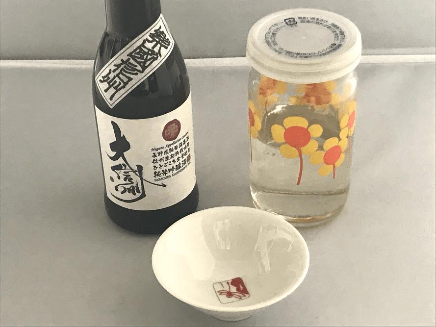 2日間置いた前割りの日本酒