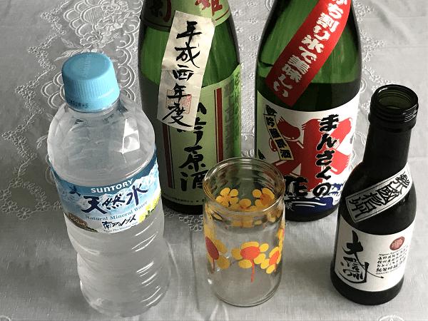 日本酒前割りを作るときに必要なもの