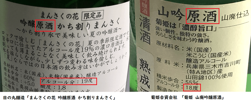 前割り|使用日本酒