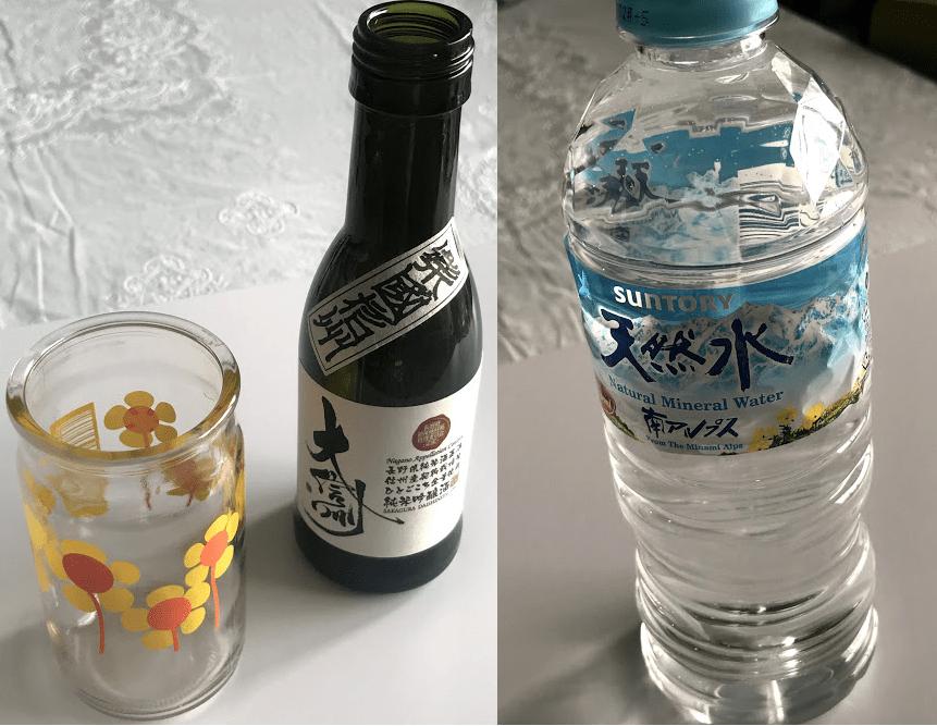 前割り|使用空き瓶&水