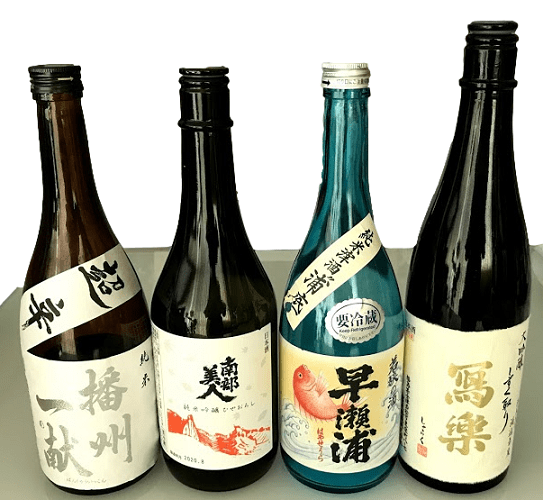 720mlサイズの日本酒