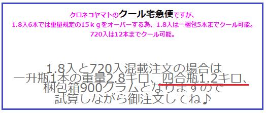 720ml(四合瓶)の重量3